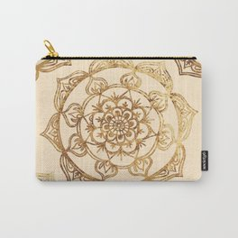 Gold & Cream Mandalas Carry-All Pouch