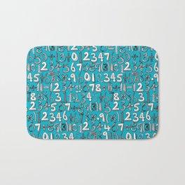 math doodle blue Bath Mat