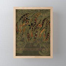 Samoan Malu Mana Motif - Polynesian designs Framed Mini Art Print