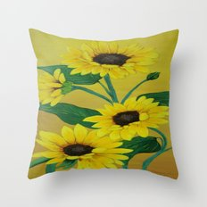 Sunny and bright Throw Pillow