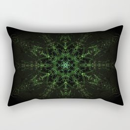 Green Expansion Mandala Rectangular Pillow