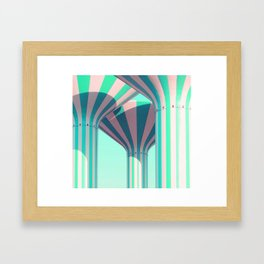 Teal Towers Framed Art Print