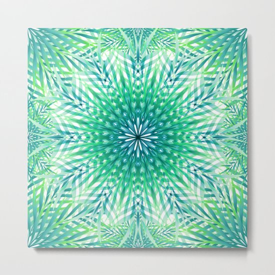 Palm Leaf Mandala Metal Print