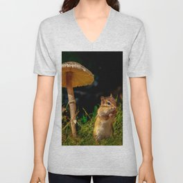 Under The Shady Mushroom Unisex V-Neck