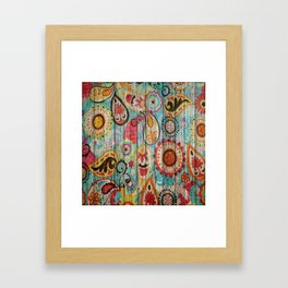 Kashmir on Wood 02 Framed Art Print