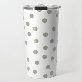 Simply Dots in Retro Gray on White Travel Mug