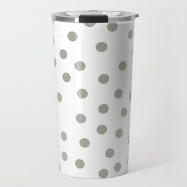 Simply Dots in Retro Gray on White Travel Mug