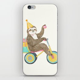 birthday sloth iPhone Skin