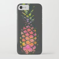 pineapple iPhone & iPod Cases featuring Pineapple by Georgiana Paraschiv