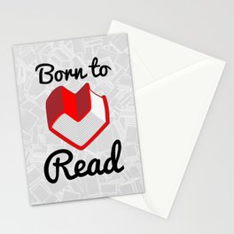 Born to Read II Stationery Cards