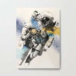 Clavius | astronaut floating in the space Metal Print