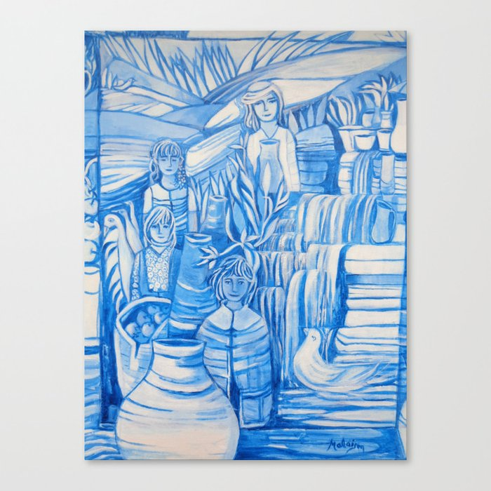 Blue window #5 Canvas Print