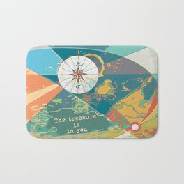 Adventure Map, The Treasure is in You Bath Mat