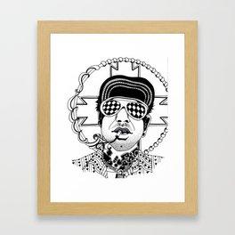 Smoker Framed Art Print