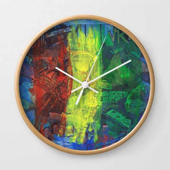 """""""Move Like This"""" by Cap Blackard Wall Clock"""