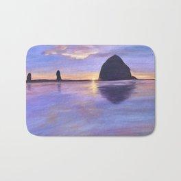 Sunset at Haystack Rock Bath Mat