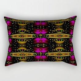 Golden abstracte pattern landscape Rectangular Pillow