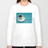 coffe Long Sleeve T-shirts featuring Coffe by Camaracraft