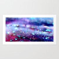 Glitter abstract II Art Print