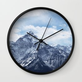 Snowy Mountain Peaks Wall Clock