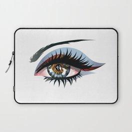 Blue eye with make up Laptop Sleeve
