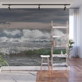 Wave crashing Backshore 2-13-19 Wall Mural