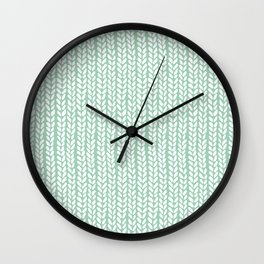 Knit Wave Mint Wall Clock