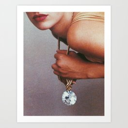 Grab life by the diamonds Art Print