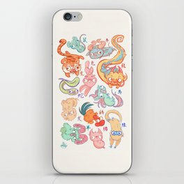 Chinese Animals of the Year iPhone Skin