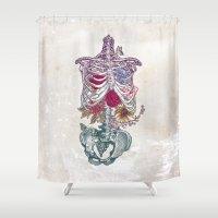 la Shower Curtains featuring La Vita Nuova (The New Life) by Rachel Caldwell
