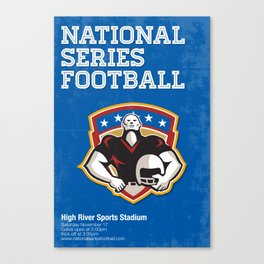 American Football National Series Poster Art Canvas Print