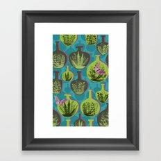 Green Glass Framed Art Print
