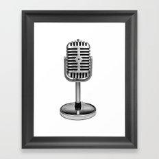 Vintage Microphone Framed Art Print