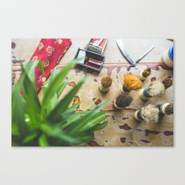 Mens Grooming Products Canvas Print