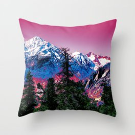 VIVID WINTER Throw Pillow