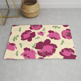 English Roses in Pink and Cream Rug