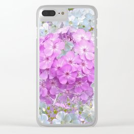 LILAC & WHITE PHLOX FLOWERS Clear iPhone Case