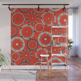 bike wheels fire Wall Mural