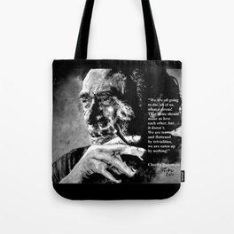 Charles Bukowski - black - quote Tote Bag