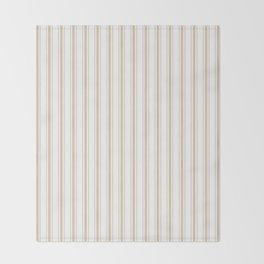 Almond Baby Camel Mattress Ticking Wide Striped Pattern - Fall Fashion 2018 Throw Blanket
