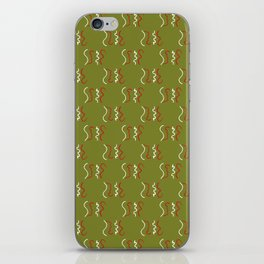 Trendy Christmas Squiggle Background iPhone Skin