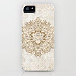 Mandala Temptation in Cream iPhone Case