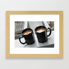 Coffee for Two Framed Art Print