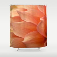 jewish Shower Curtains featuring Gentle Petals by Brown Eyed Lady