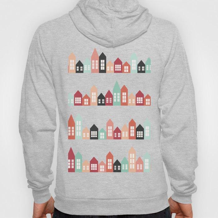 European cozy housess pattern Hoody