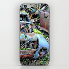 Vintage Volvo at car graveyard iPhone Skin
