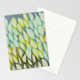Falling into Blue Leaves Stationery Cards