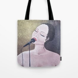 The Moment, Singing Woman Painting, by Faye Tote Bag