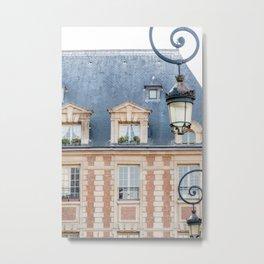 Place des Vosges in Paris France Metal Print