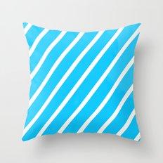 Blue & White Stripes Throw Pillow